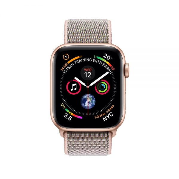 Apple iWatch Series 4 44mm Gold Aluminum Case With Pink Sand Sport