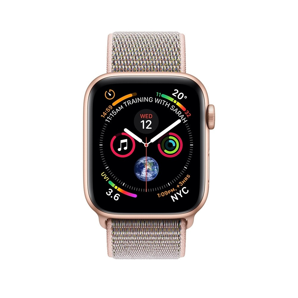 Apple iWatch Series 4 44mm Gold Aluminum Case With Pink Sand Sport Loop – GPS (MU6G2)