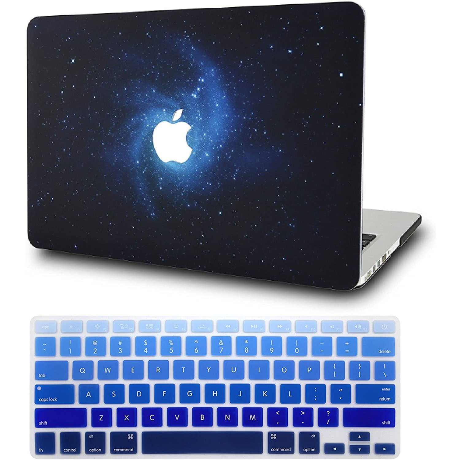 MacBook Air 13″ Retina (2020 Touch ID) w/Keyboard Cover Plastic Hard Shell Case A2179/A1932 2 in 1 Bundle (Blue
