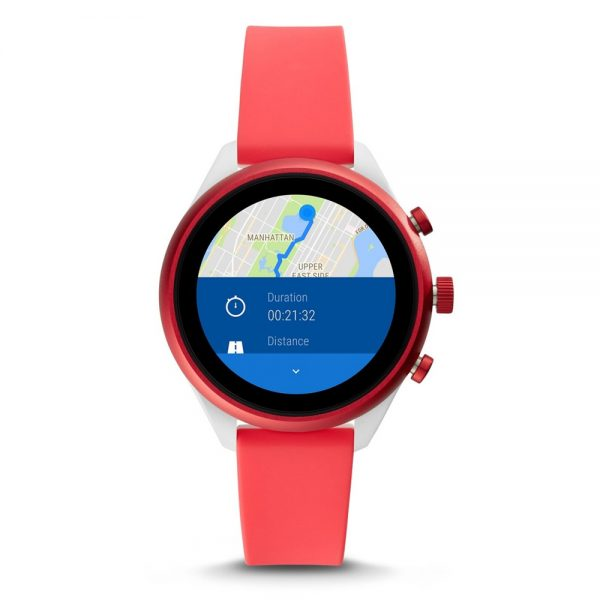 Fossil Sport Women's Smartwatch Red Silicone (FTW6027P)